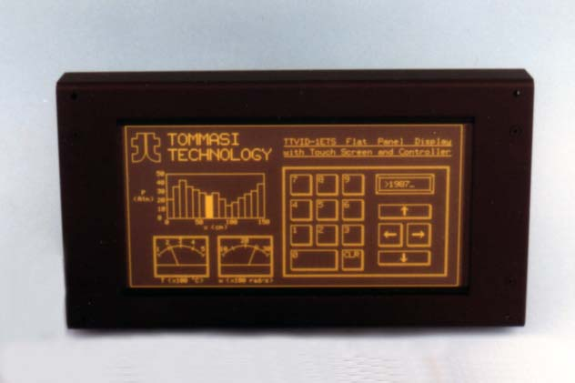 Flat panel display and touch screen terminal